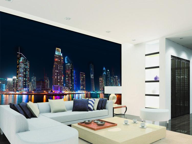 תמונת טפט קיר עיר האורות תלת מימד