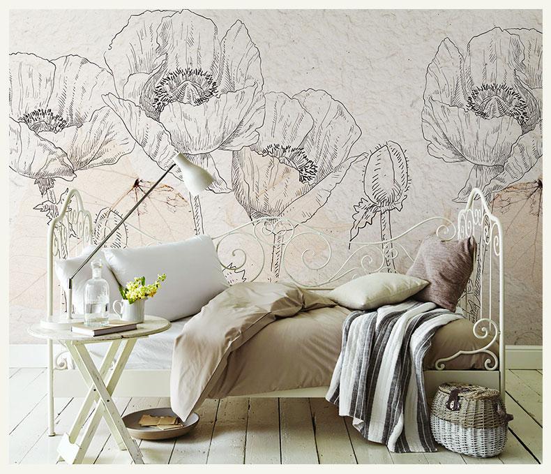 תמונת טפט קיר פרחים וינטאג' 2
