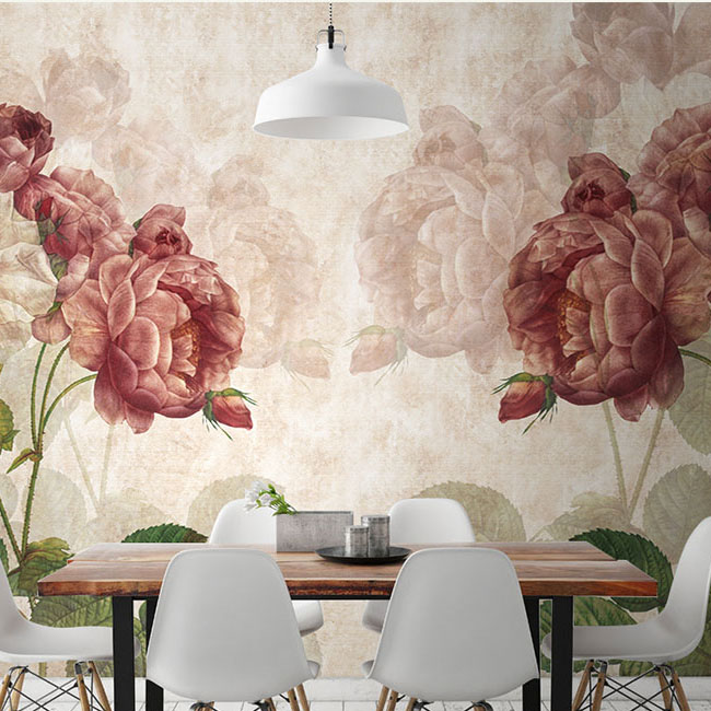 תמונת טפט קיר וינטאג' פרחים 3