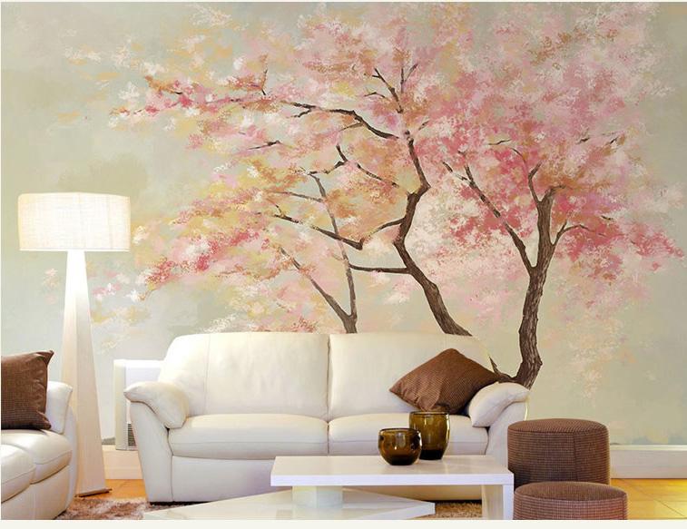 תמונת טפט קיר עץ שלכת
