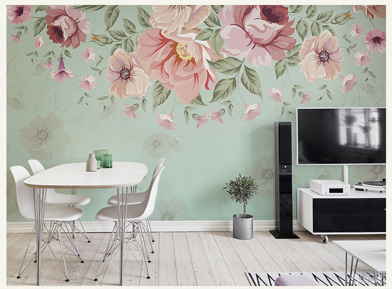 תמונת טפט קיר פרחים וינטאג' 3