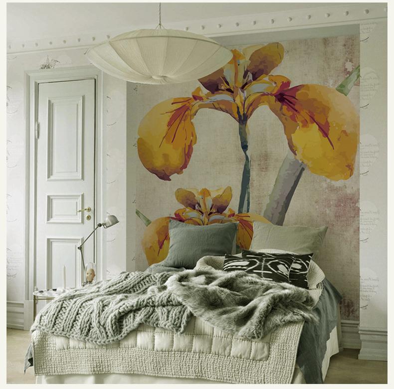 תמונת טפט קיר פרחים צהובים