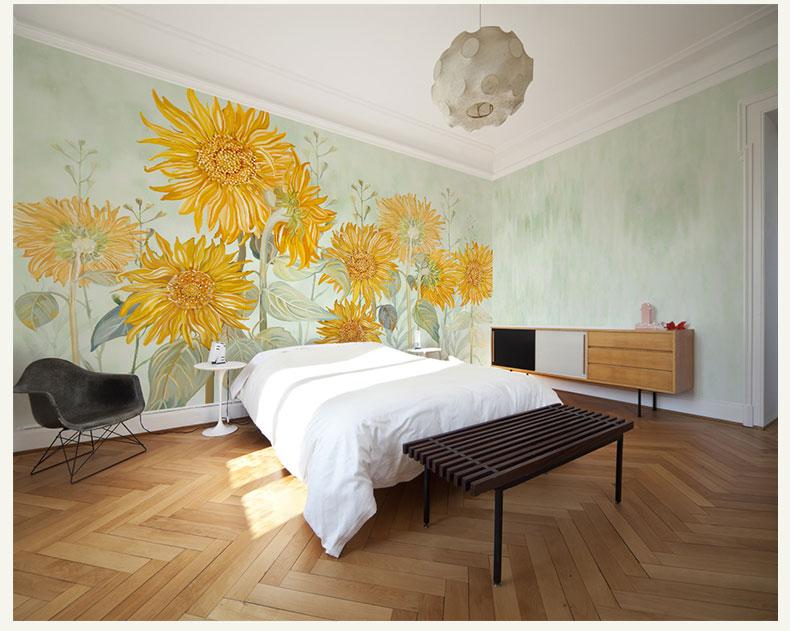 תמונת טפט קיר חמניות צהובות