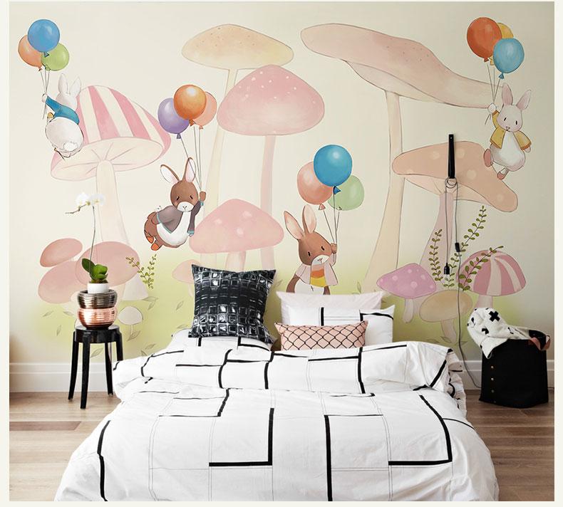 תמונת טפט קיר ארנבונים לחדרי ילדים
