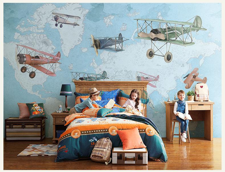 תמונת טפט קיר מטוסים לחדרי ילדים