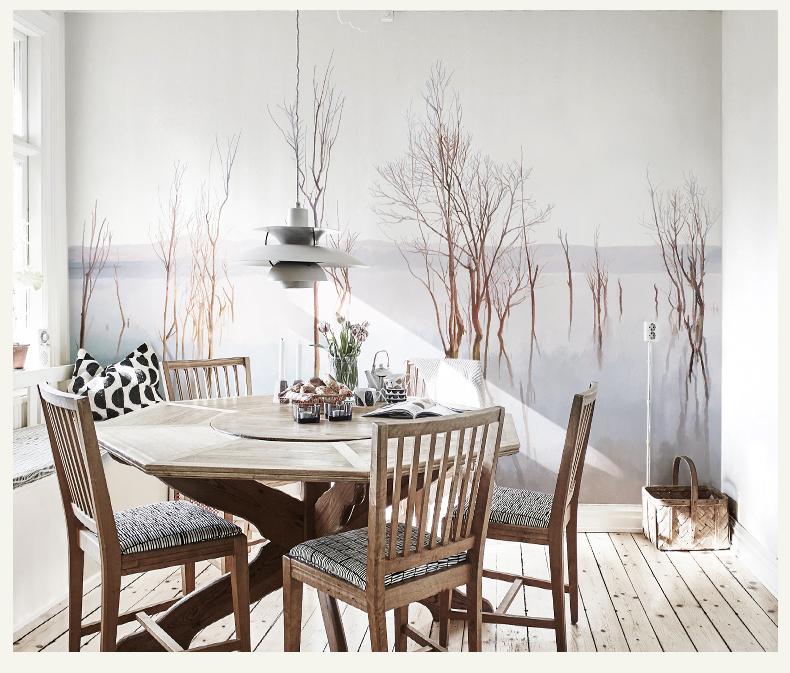 תמונת טפט קיר עצים במים