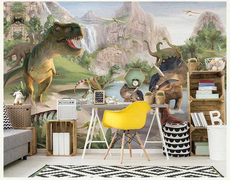 תמונת טפט קיר דינוזאורים לחדרי ילדים