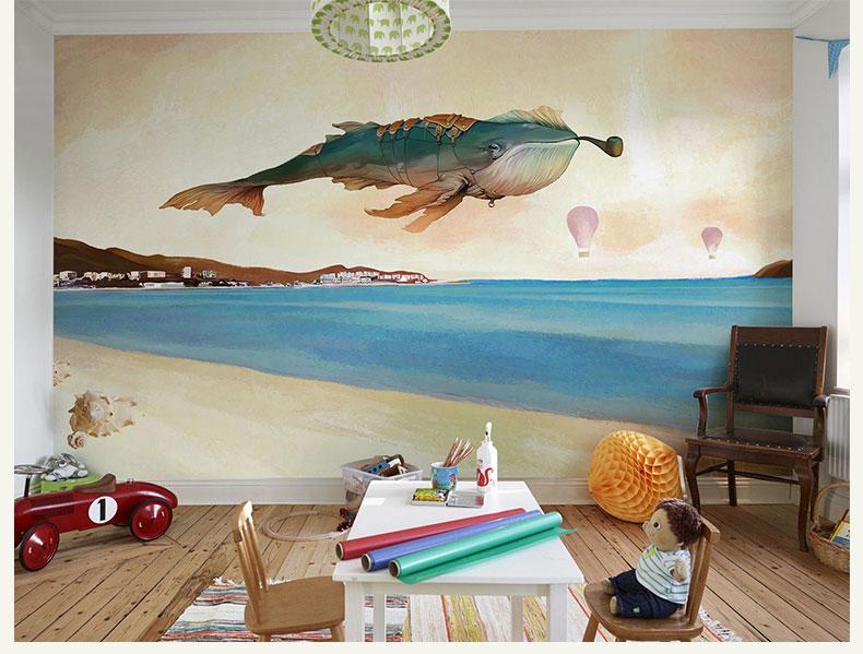 תמונת טפט קיר לחדרי ילדים דג גדול