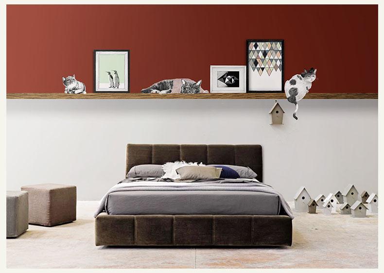 תמונת טפט קיר חתולים ותמונות על קורת עץ