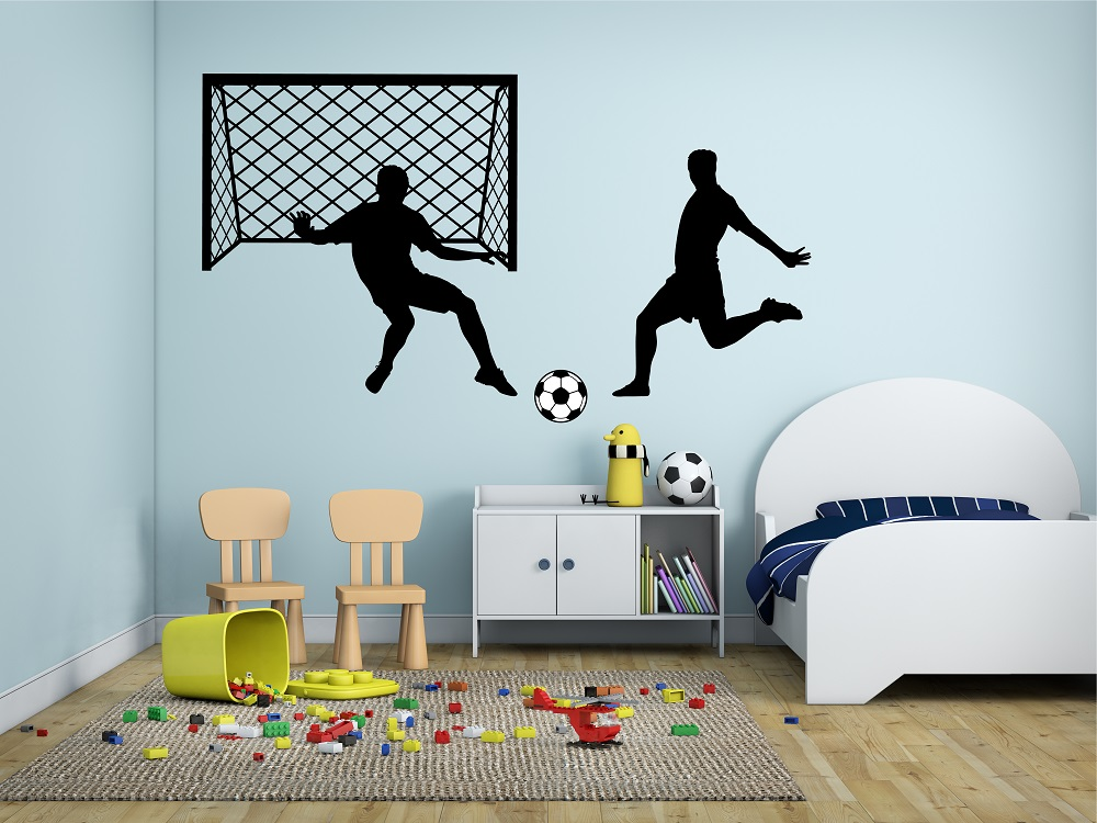 מדבקת קיר כדורגל לחדרי ילדים