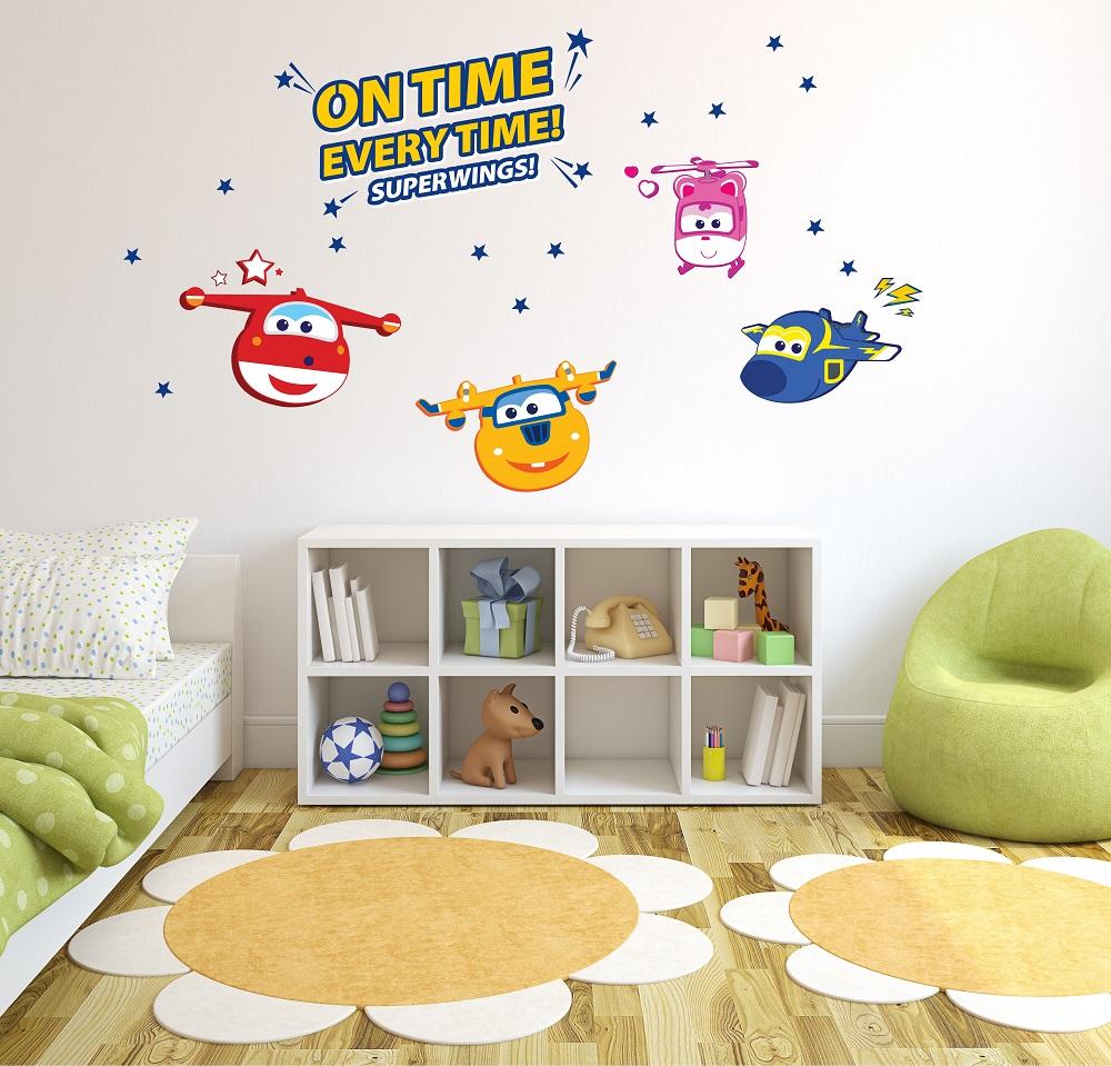 מדבקת קיר מטוסי על לחדרי ילדים