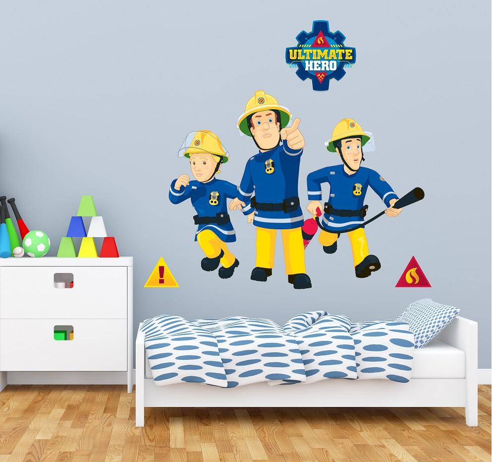 מדבקת קיר סמי הכבאי לחדרי ילדים