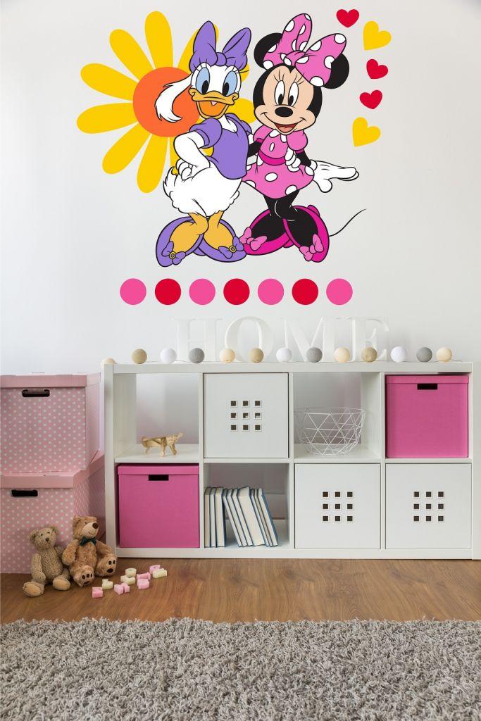 מדבקת קיר מיני מאוס ודייזי לחדרי ילדים