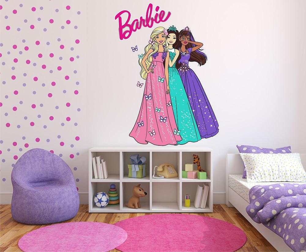 מדבקת קיר ברבי לחדרי ילדים