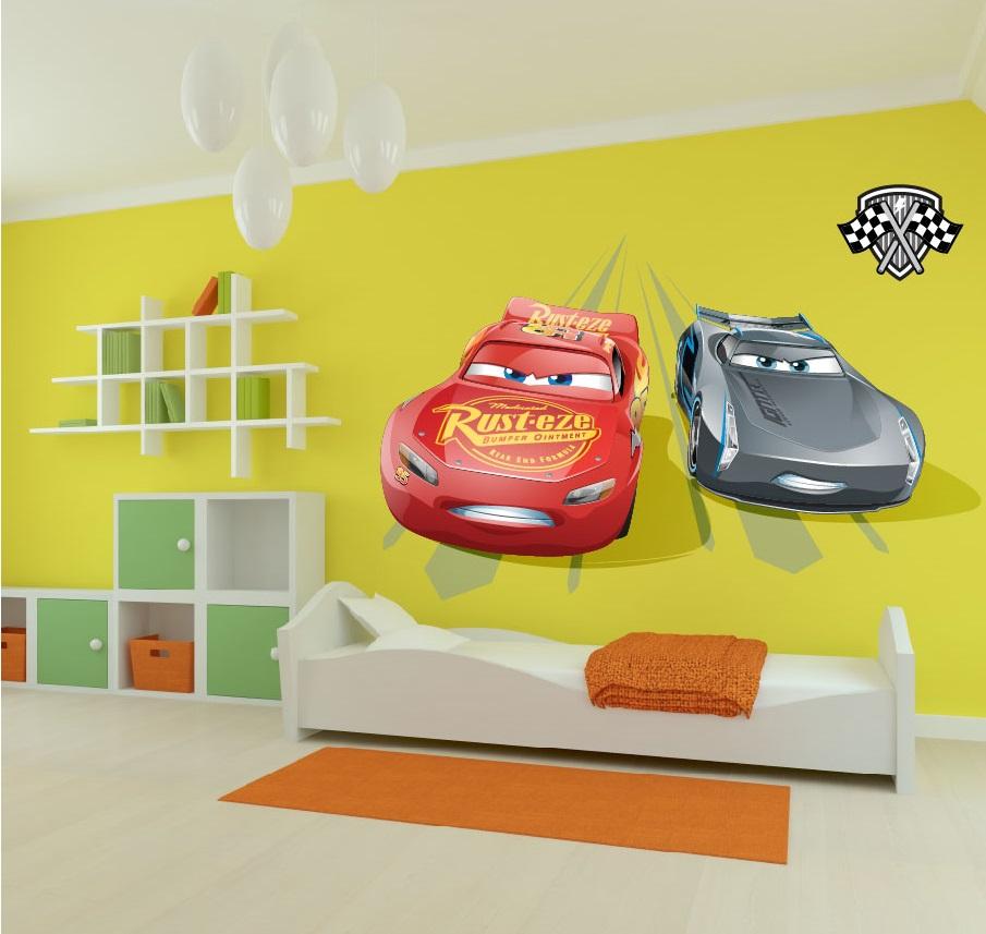 מדבקת קיר מכוניות לחדרי ילדים