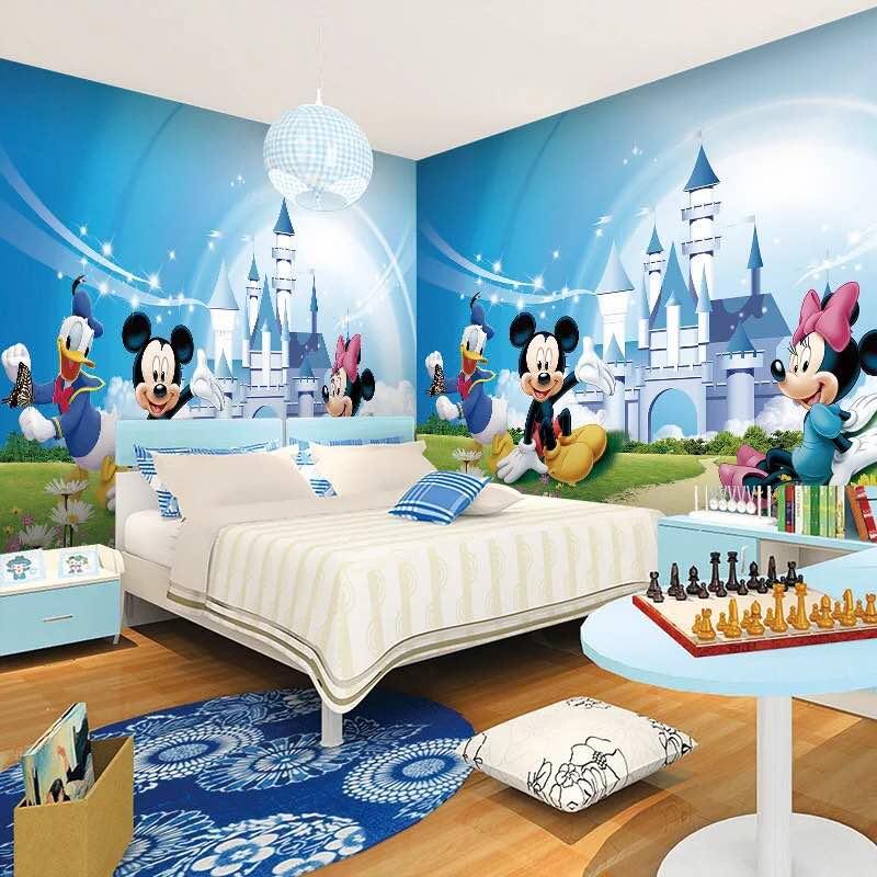 תמונת טפט קיר מיקי מיני ודולנד דאק לחדרי ילדים