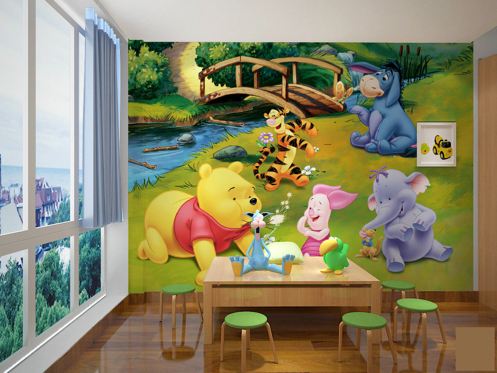 תמונת טפט קיר פו הדב וחברים לחדרי ילדים