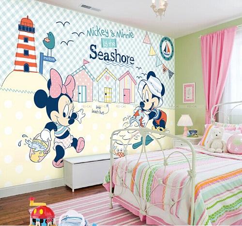 תמונת טפט קיר בייבי מיקי ומיני מאוס לחדרי ילדים