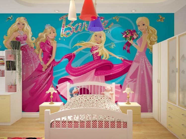 תמונת טפט קיר ברבי לחדרי ילדים