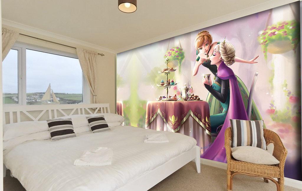 תמונת טפט קיר אנה ואלזה לחדרי ילדים