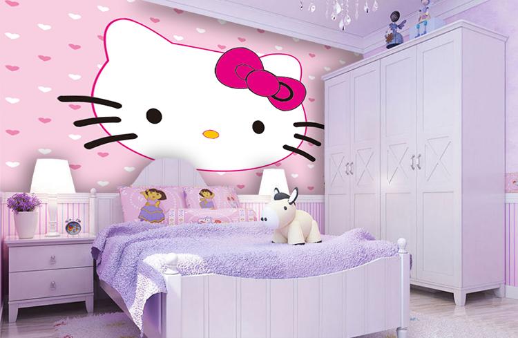 תמונת טפט קיר הלו קיטי לחדרי ילדים