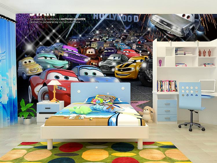תמונת טפט קיר מכוניות 4 לחדרי ילדים