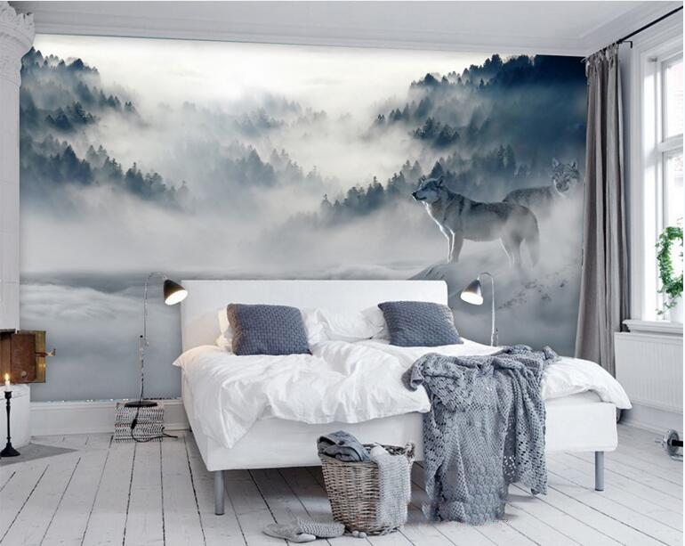 תמונת טפט קיר תלת מימד חורף אפור