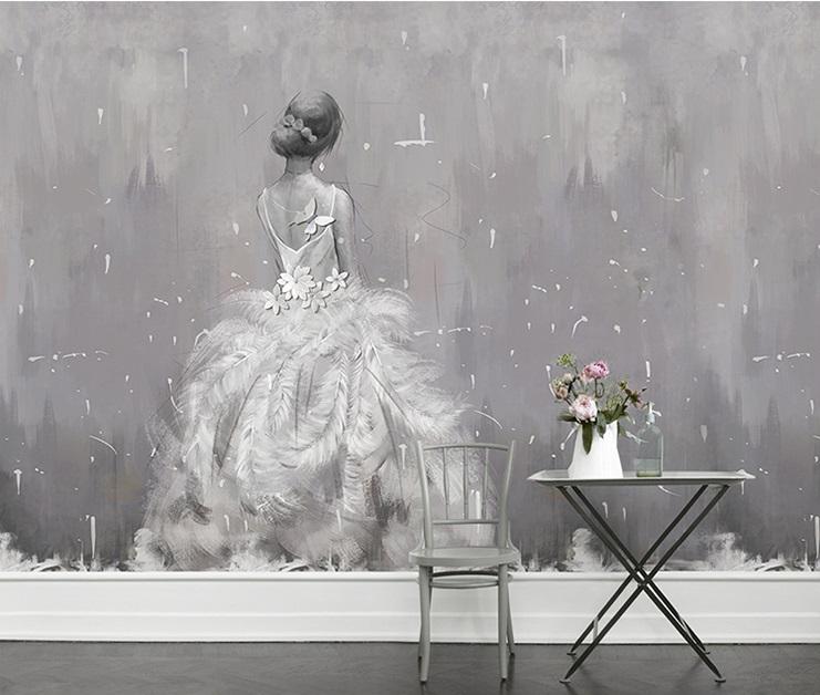 תמונת טפט קיר אישה בשמלת כלה