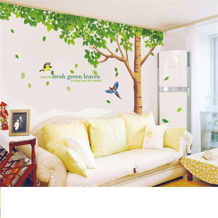 מדבקת קיר עץ גדול