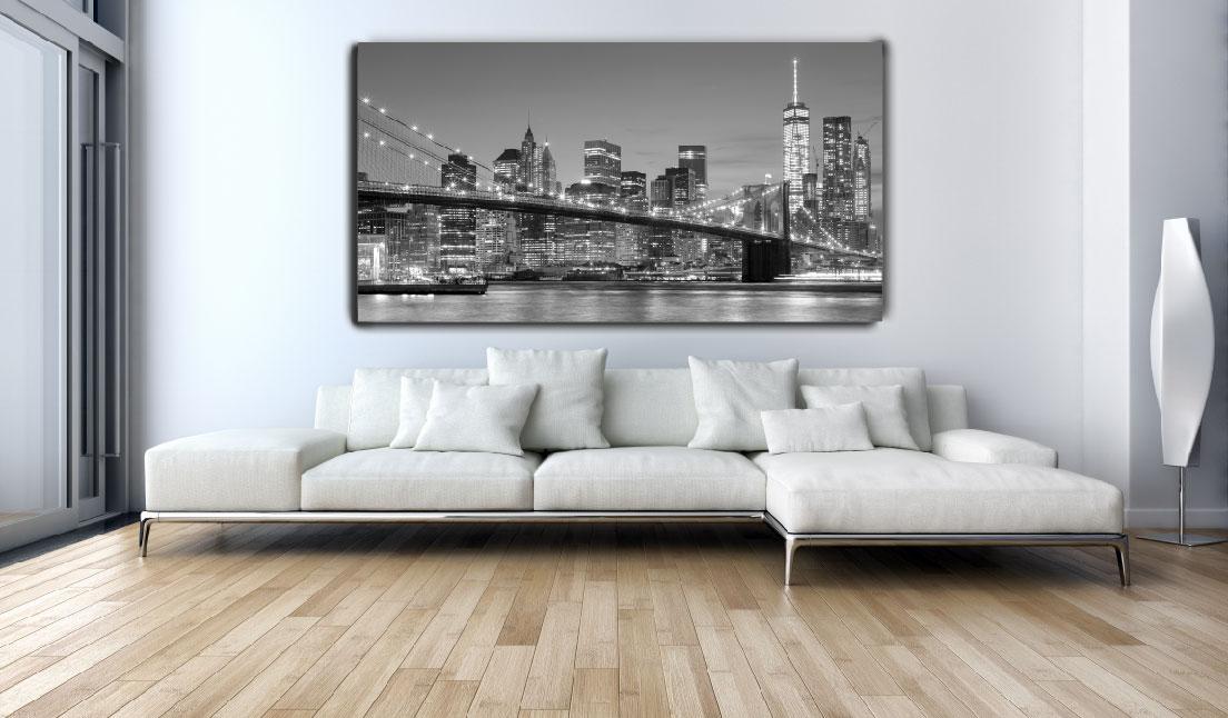 תמונת קנבס ניו יורק שחור לבן