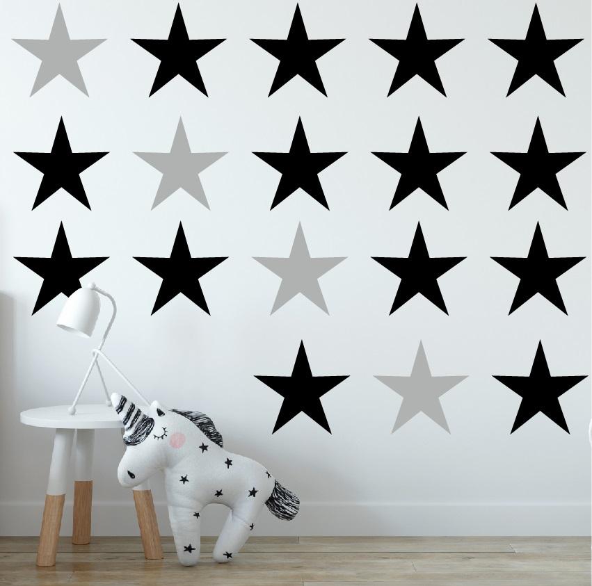 מדבקות קיר כוכבים גדולים בצבעים לבחירה