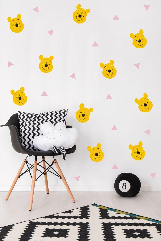 מדבקות קיר פו הדב בתפזורת לחדרי ילדים ותינוקות
