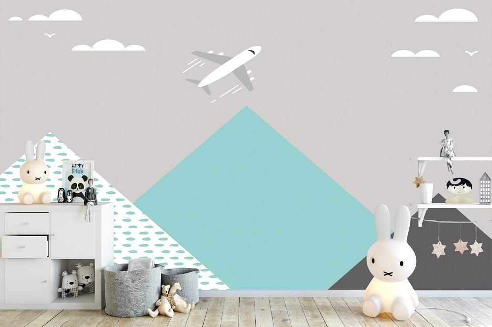 תמונת טפט airplane לחדרי ילדים