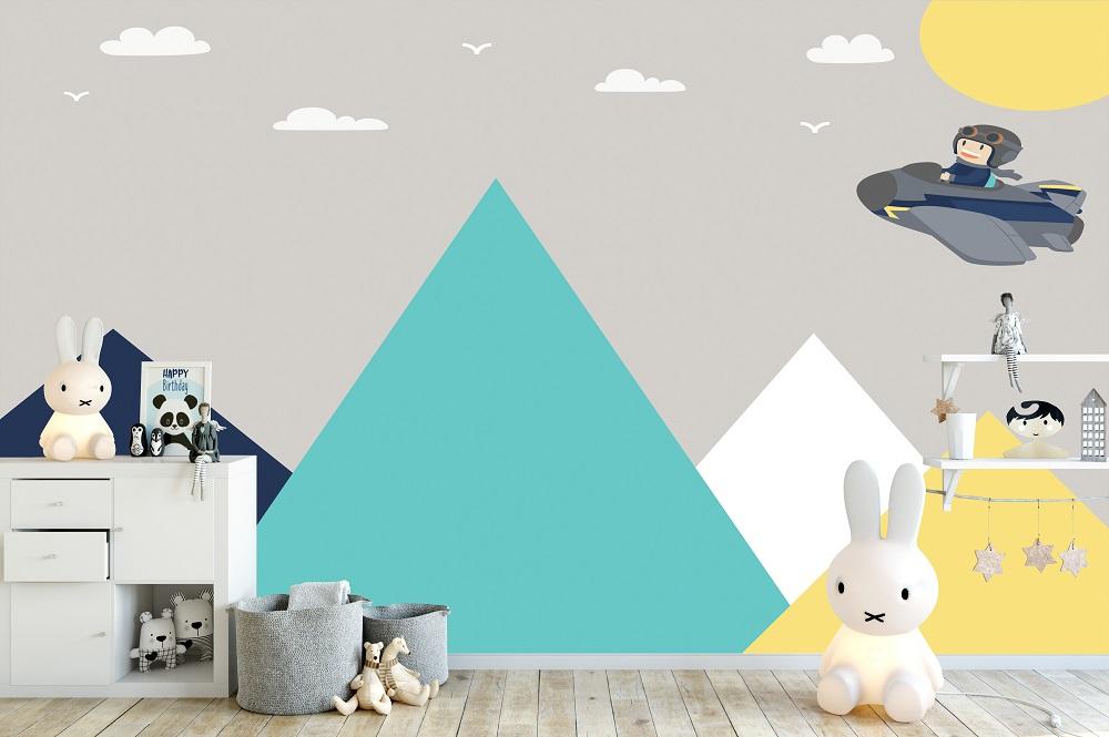תמונת טפט airplane לחדרי ילדים 3