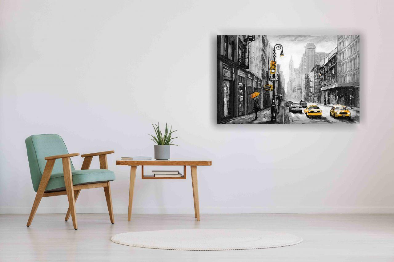 תמונת קנבס ציור שמן חורף ניו יורק