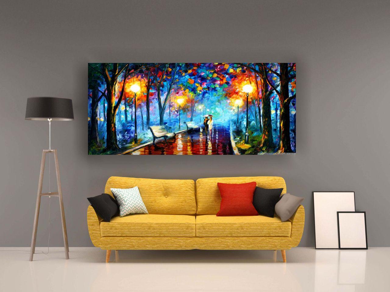 תמונת קנבס ציור שמן זוג ביער