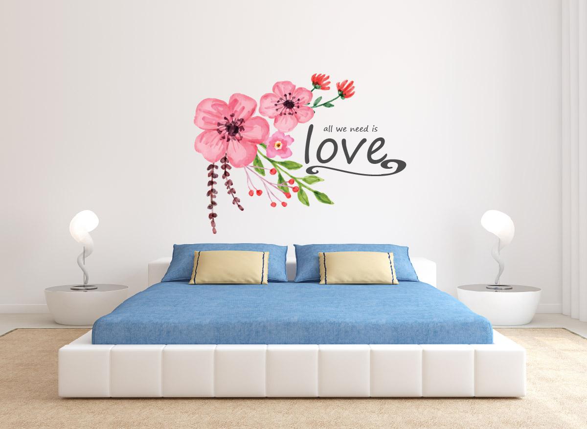 מדבקת קיר ALL WE NEED IS LOVE