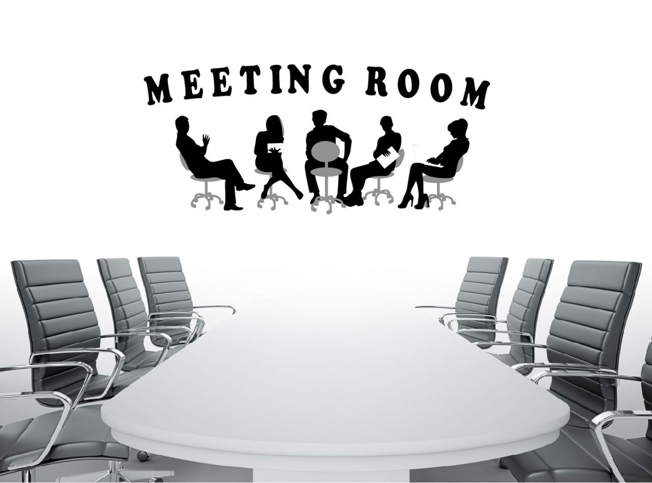 מדבקת קיר MEETTING ROOM