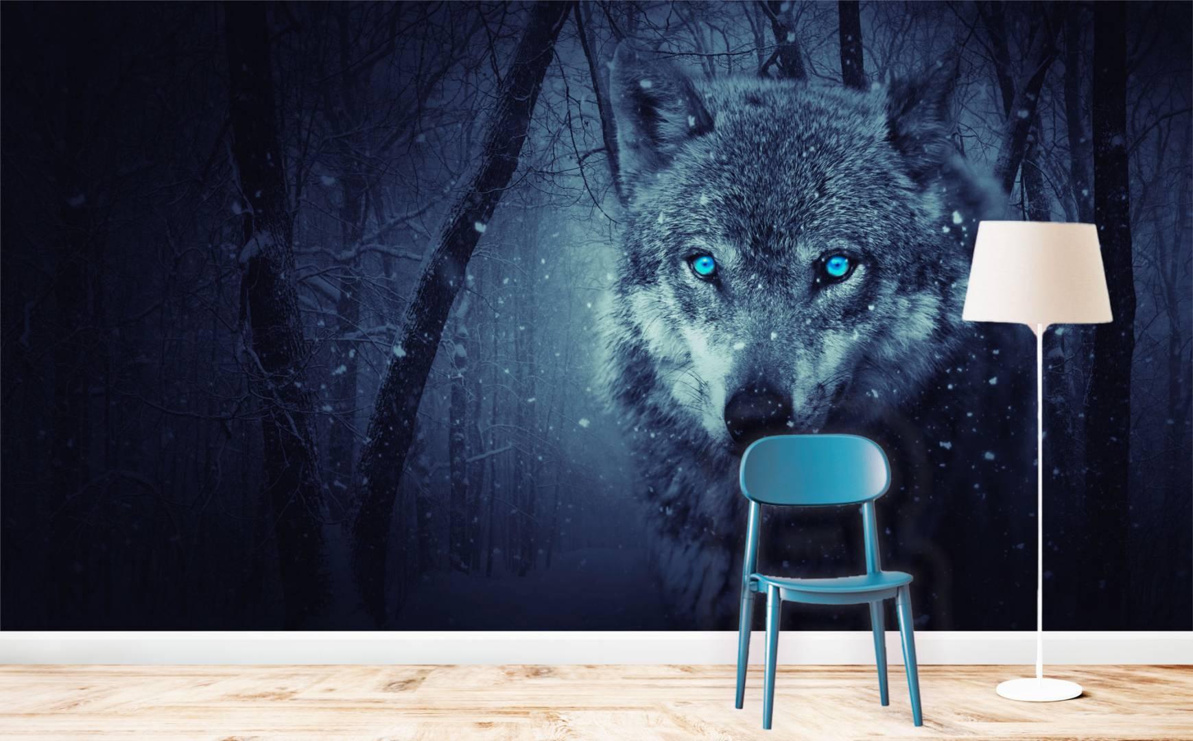 טפט THE WACHING WOLF