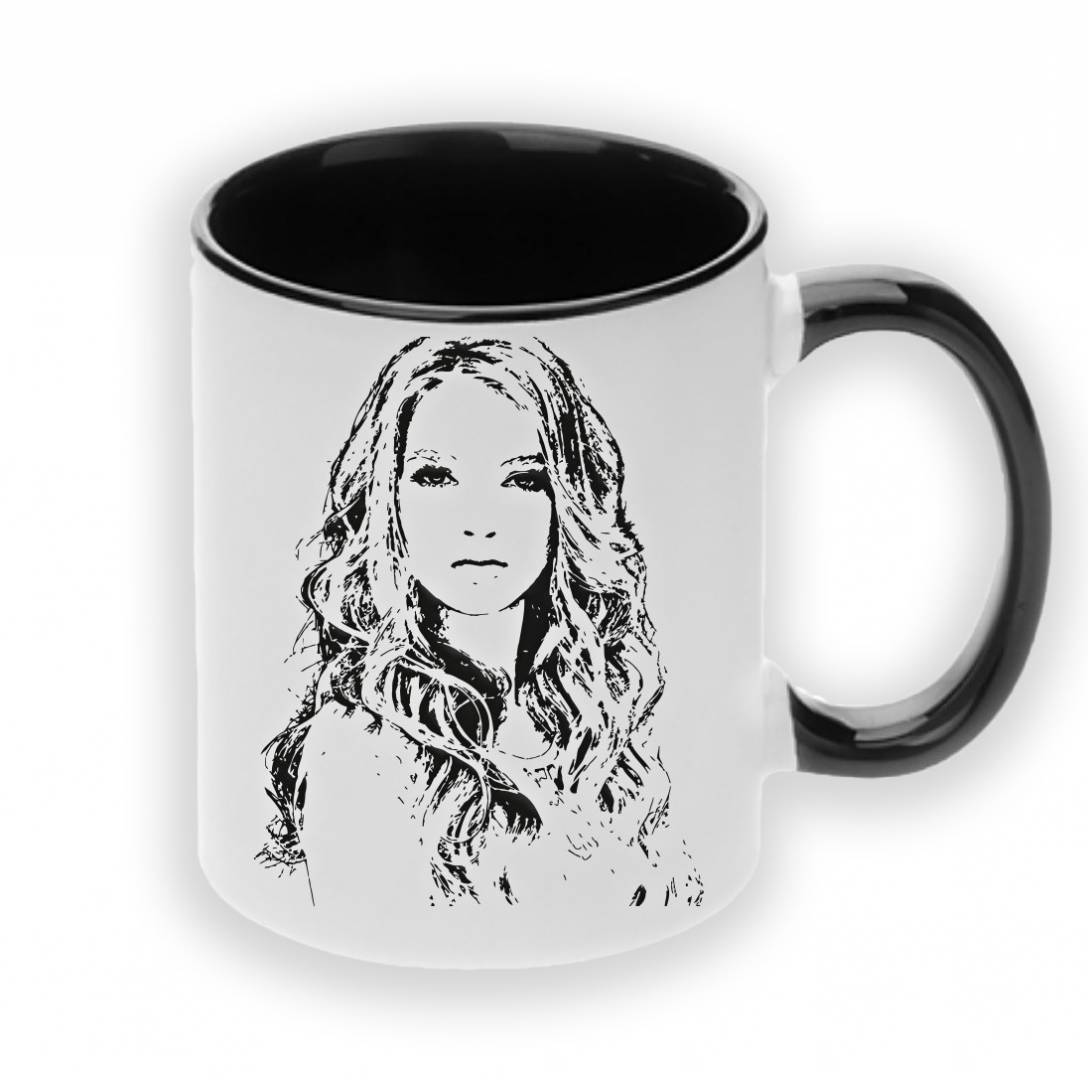 ספל קפה מעוצב איור פנים בהתאמה אישית