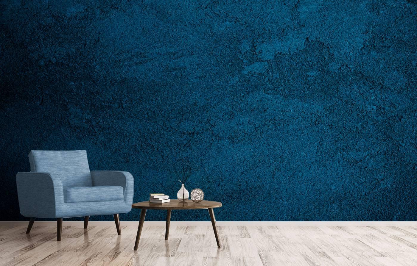 טפט קיר בטון כחול כהה משופשף