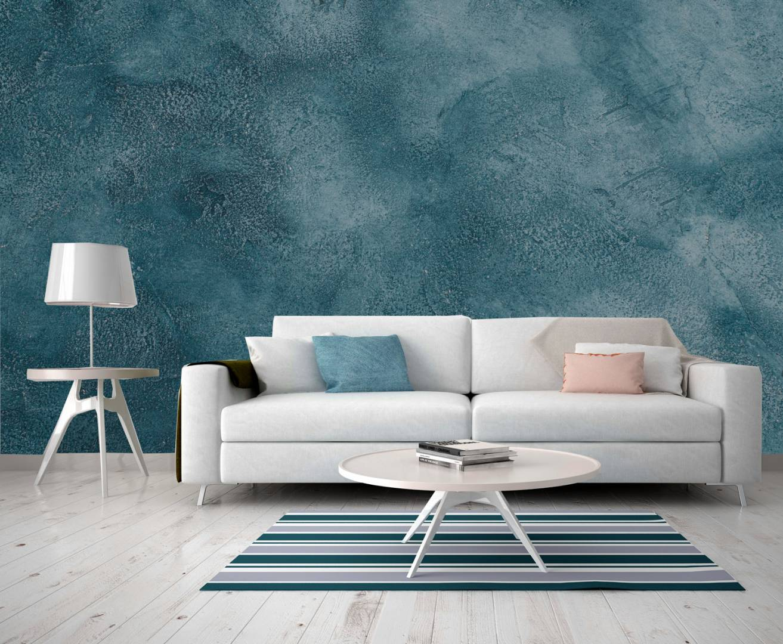 טפט קיר בטון כחול מיוחד משופשף