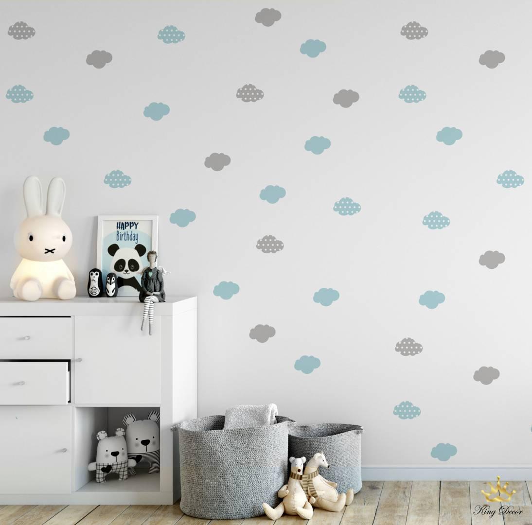 מדבקות קיר עננים נעימים לחדרי תינוקות