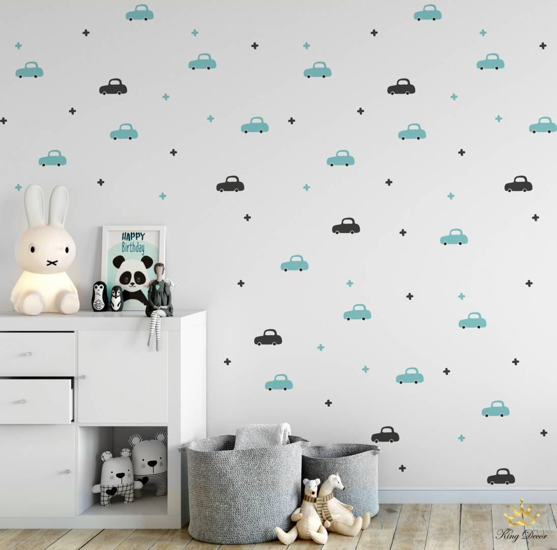 מדבקות קיר מיני קארס לחדרי תינוקות