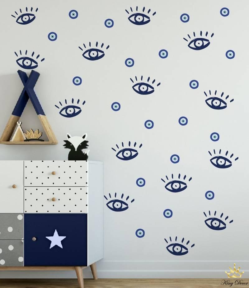 מדבקות קיר עין לחדרי תינוקות
