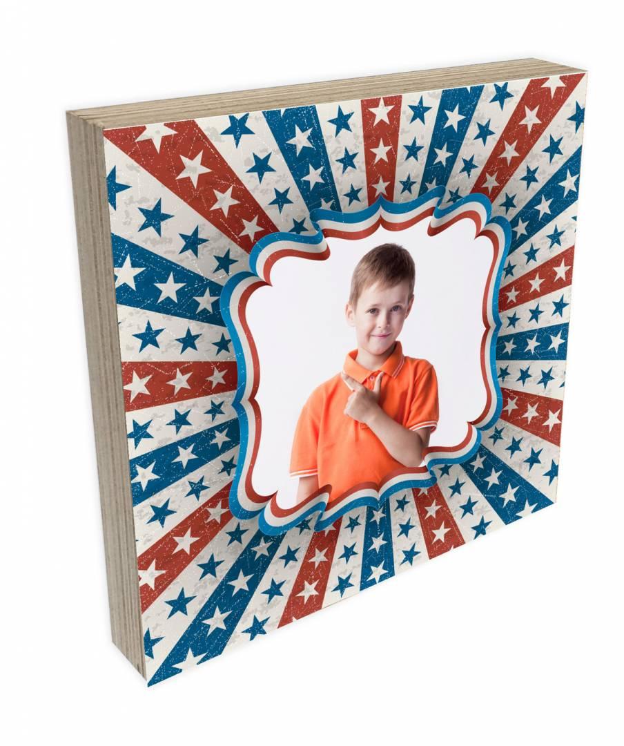 קינג פוטובלוק-בלוק עץ תמונה דגם אמריקן סטייל