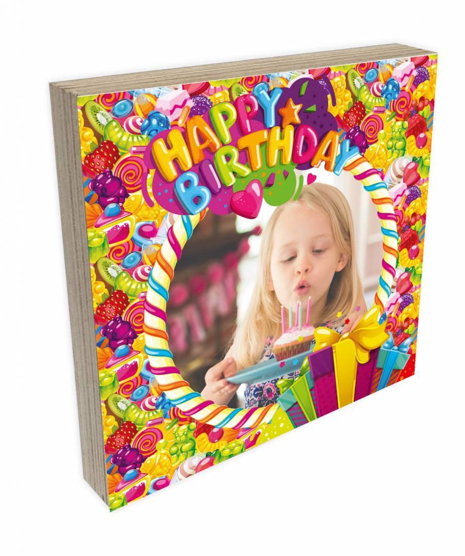 קינג פוטובלוק-בלוק עץ יום הולדת שמח לילדים 2