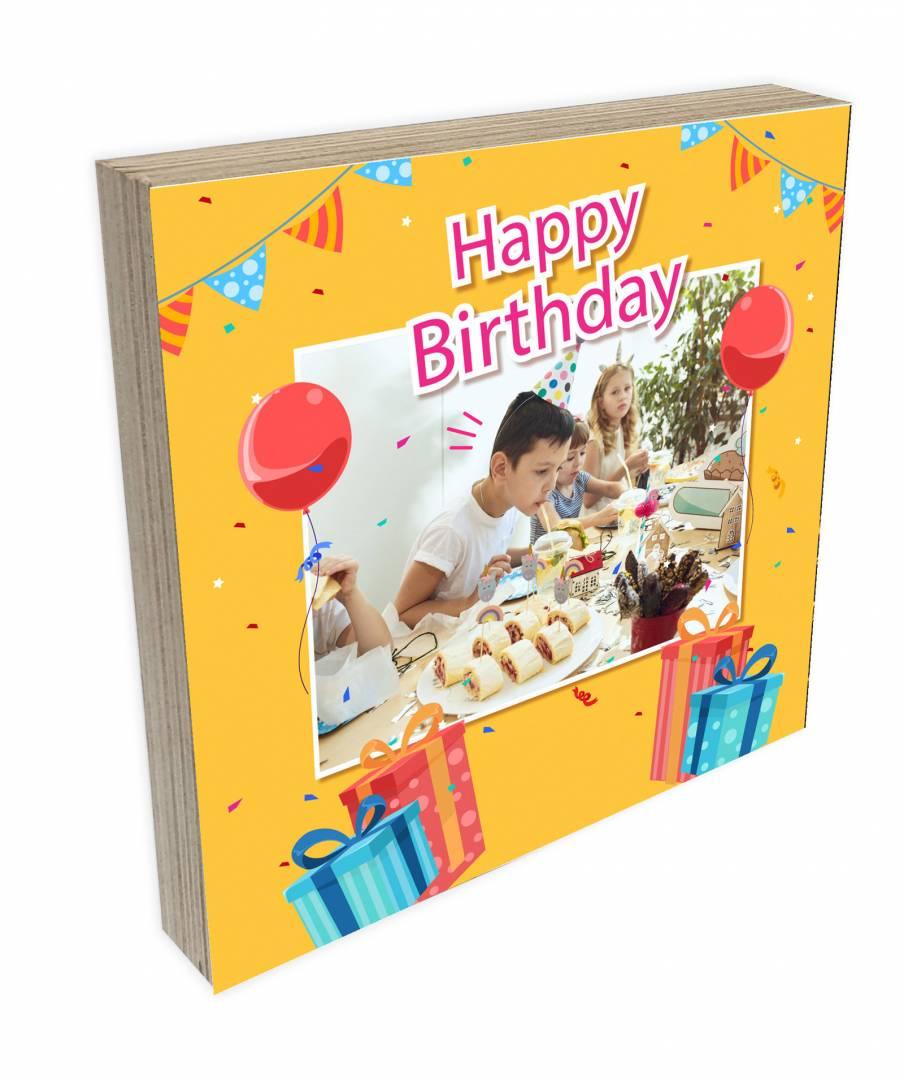 קינג פוטובלוק-בלוק עץ יום הולדת לילדים 2