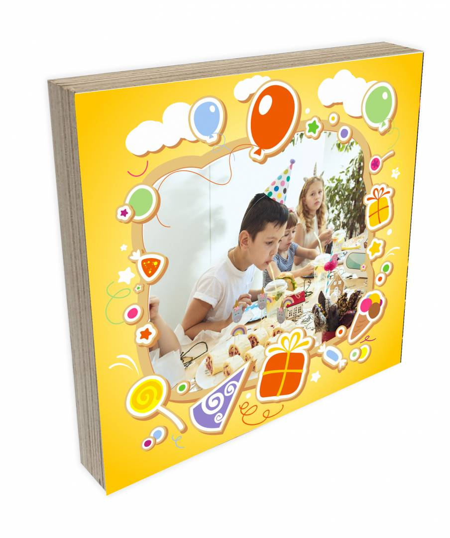 קינג פוטובלוק-בלוק עץ יום הולדת לילדים 3