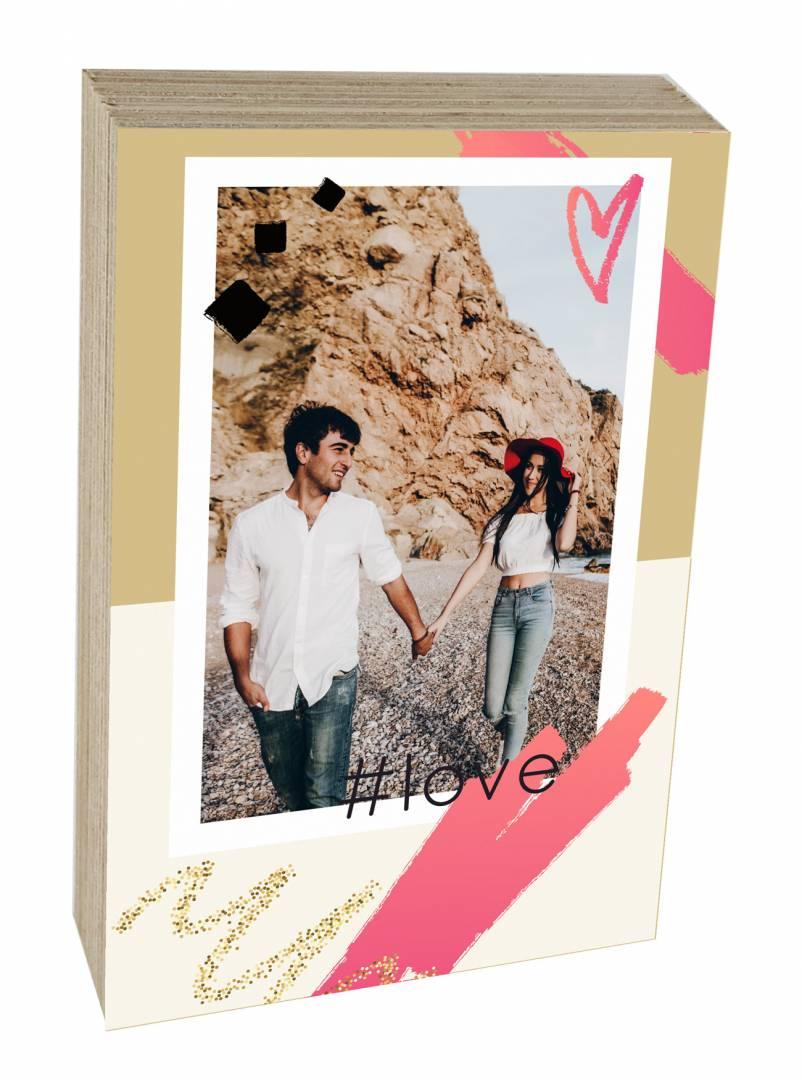 קינג פוטובלוק-בלוק עץ #LOVE